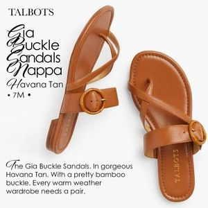 Gia Buckle Sandals-Nappa Havana Tan